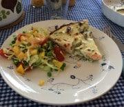 Laksetærte med asparges