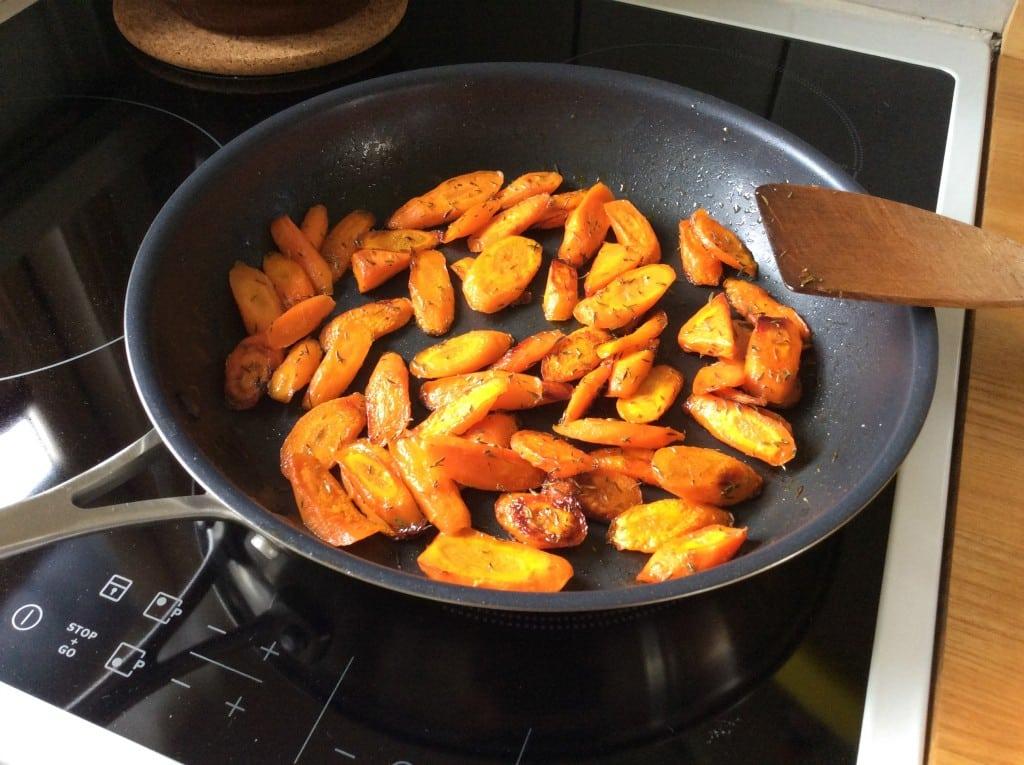 Honning ristet gulerødder