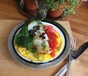 Omelet med hellefisk