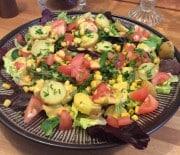Kartoffelsalat med grønt