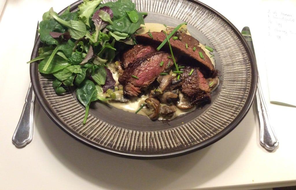 Steak på svampebund