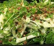 Salat med glaskål