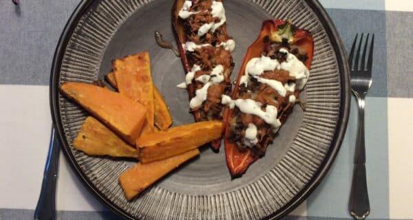 Snack-peber med fyld