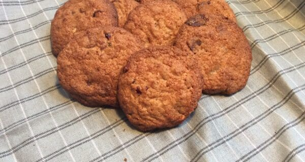 Cookie med tranebær og chokolade